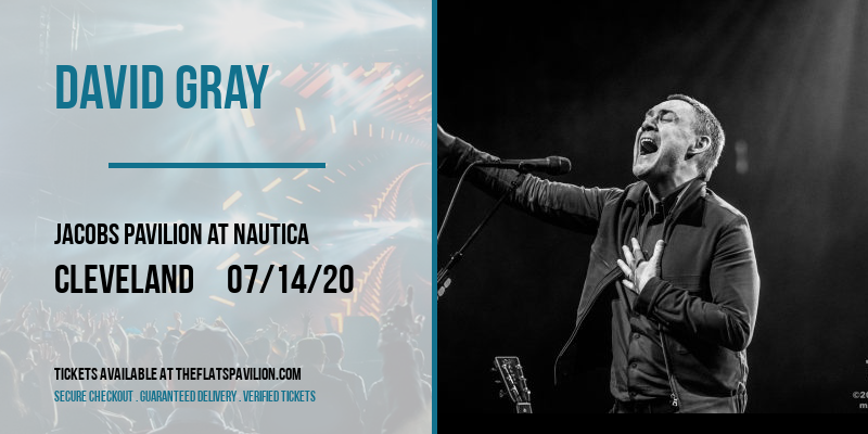 David Gray [POSTPONED] at Jacobs Pavilion at Nautica