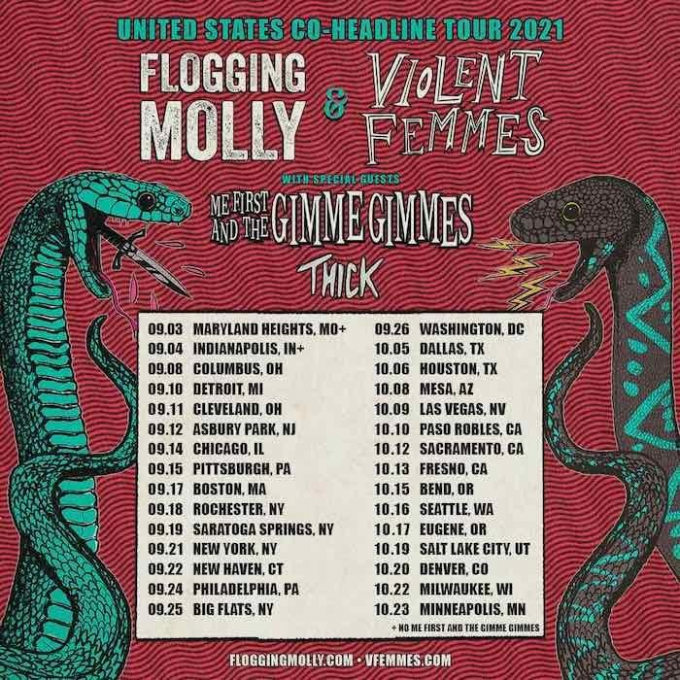 Flogging Molly, Violent Femmes & Thick at Jacobs Pavilion at Nautica